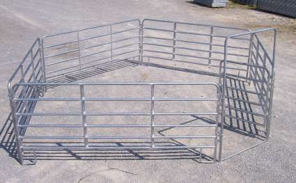 Round Pen - 6 Bar Galvanized Utility