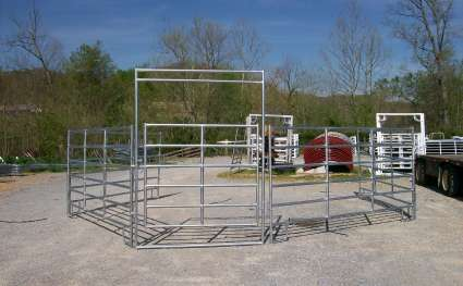 6 Bar Galvanized Utility Round Pen